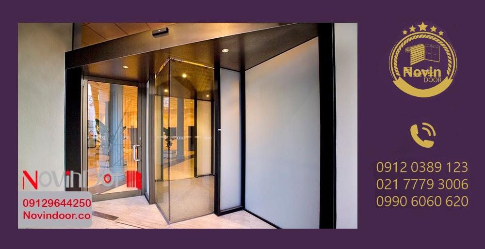 درب اتوماتیک شیشه ای-مدرن درب